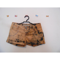 Shorts Feminino Jeans Tie-dye Cód. 416