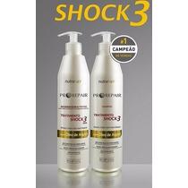 Chock 3 Nutra Hair * Regenerador Da Fibra Capilar * 3 Itens.