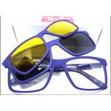 b0a01c314a3ee Armação Óculos Rb2088 2 Clip On Clipons Masculino E Feminino