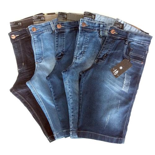 7566a65e2 Kit Bermuda Jeans Masculino Lote 5 Unidades Preço De Atacado