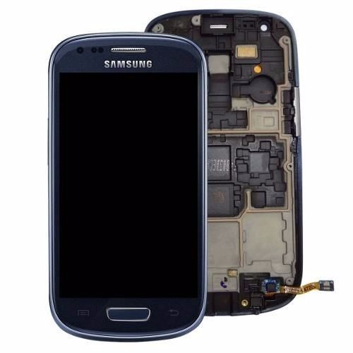 Tela Display Frontal Samsung Galaxy S3 Mini Gt-i8190 Azul