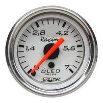 Pressão Do Óleo Willtec Top Br Instrumento 52mm + Led Tuning