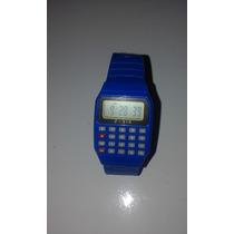Relógio De Pulso Calculadora - Pronta Entrega + Brinde