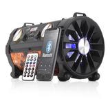 Caixa De Som Portatil Bluetooth Canhão Fm P2 P10 Amplificada