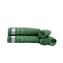 Jogo De Toalha Banho Verde Gigante Luxo Felpuda 5 Peças
