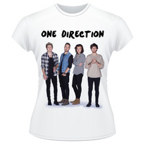 Baby Look One Direction 2015 Banda Camiseta Feminina