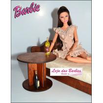 Garrafinha De Bebida P/ Boneca Barbie * Fr * Diorama Rement