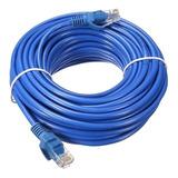 Cabo De Rede Rj45 Montado 15 Metros Ethernet Cat5e Lan Azul