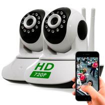 Kit 2 Câmera Ptz Ip 1.3mp 720p Hd Wireless Wifi Audio Sd P2p
