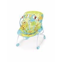 Cadeira De Descanso Balanço Vibra E Musical -18kg Azul/verde