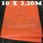 Lona Plástica Laranja Tecido Flexível 10x2,20 Sem Acabamento