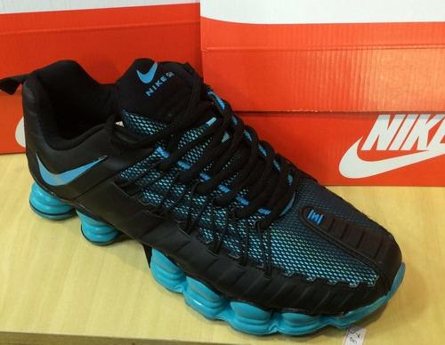 55b5e5f4cf 72ccdca1bbd3a7  Tenis Nike Shox Premium Preto E Azul Nº37 Ao 43 Original.