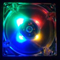 Cooler De Gabinete 80mm 4 Leds Coloridos Novo!