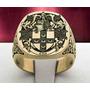 Anel Luxury Masculino Brasão Ouro18k (personalizados)