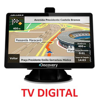 Gps Automotivo Discovery Tela Lcd 4.3 Slim Touch Mp3 Radar