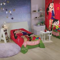 Colcha Show Da Luna Infantil Estampada Cama Solteiro Lepper