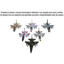 Caça A Jato F-16 - Escala 1/130 - Metal, Com Fricção