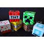 20 Caixinha Minecraft 6x6x6 Papel Couché 250g-facil Montagem