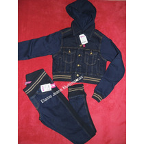 Conjunto Feminino Calça Jaqueta Jeans Moleton