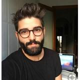 a01919e15 Óculos Redondo Sem Grau Lente Transparente Masculino Vintage