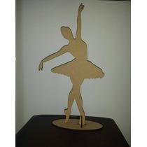 2 Bailarinas Com 50cm De Altura Em Mdf Cru Decoração Festas