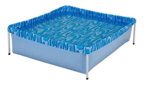Piscina Estrutural Azul Mor 001000 Retangular 1.15m De Comprimento X 1.06m De Largura