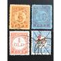 Holanda 4 Selos Taxas 1870/ 1906/39 Cot. 48 $dol.
