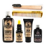 Tudo Para Barba Shampoo + Oleo + Balm + Tonico + Pente Ofert