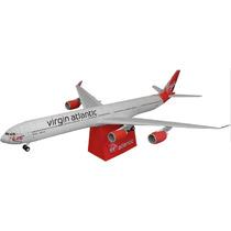 Virgin Atlantic Airbus A340-600 Maquete Modelo Réplica Avião