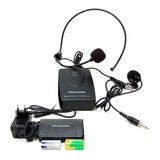 Microfone Sem Fio Digital Vhf Headset Auricular Lapela Co11