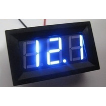 Voltímetro Digital Automotivo, Led Azul, 3,5~30v Tuning