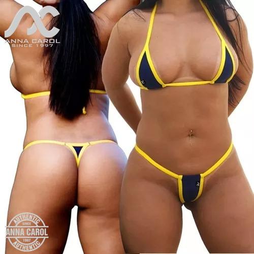 448d61b6dc684f Conjunto Micro Fio Dental Sexy Bikinis Anna Carol Micro-3 R$89.9 lFa0g -  Precio D Brasil
