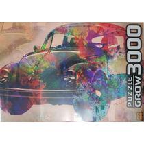 Quebra Cabeça Puzzle 3000 Peças Grow Vintage Car !