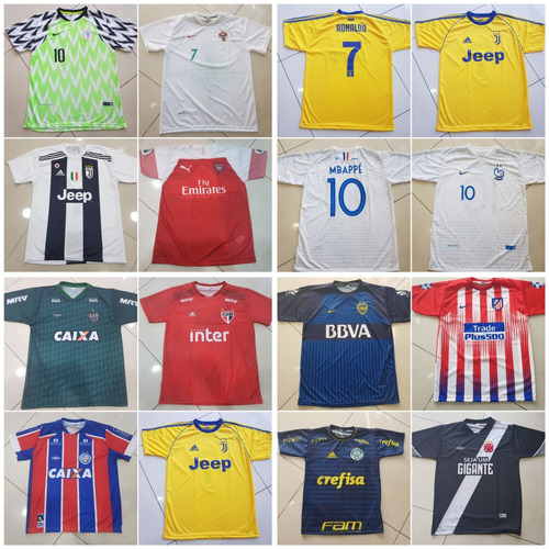 a14f8f6731 Camisetas De Times De Futebol-kit 10 Unidades- P  Revenda