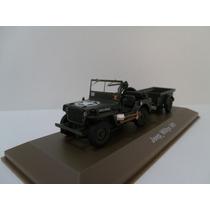 Jeep Willys Militar Com Carretinha 1/43 Atlas - Gr Minicars