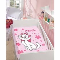 Manta Cobertor Jolitex Disney Gatinha Marie 0,80x1,10