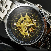 Relógio Pulso Automático Masculino Esqueleto Jaragar