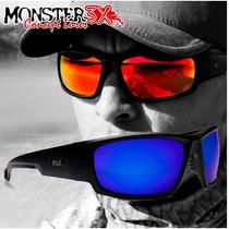 628f649eb8 Óculos Polarizado P/ Pesca Black Monster 3x Azul Hidrofobico