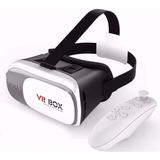 Vr Box 2.0 Óculos Realidade Virtual 3d + Controle Bluetooth