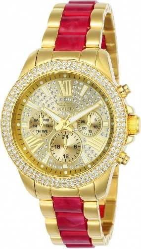 53f3290c960 Relógio Invicta Angel Feminino 24126 Banhado Ouro Original