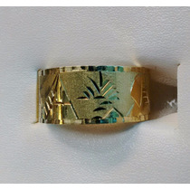 Leão Jóias Anel Escrava Ouro 18k Largura 10mm Certificado