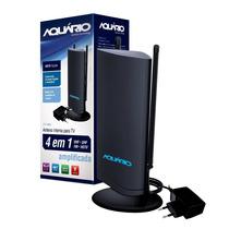 Antena Interna Amplificada Para Tv 4 Em 1 Dtv-4600 Aquário