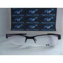 Armação P/ Óculos Grau, Metal Plate Black, Oakley, Envio Já