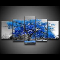 Quadro Decorativo 129x63 Sala Quarto Árvore Grande Cores