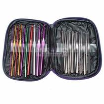 Agulhas Para Crochê Kit Com 22 + Case+ Frete Grátis