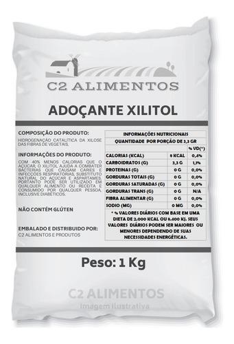 Xilitol Adoçante Xylitol 1kg Pronta Entrega Original + Laudo