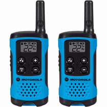 Radio Comunicador Talkabout 25km T100br Azul Motorola + Nfe