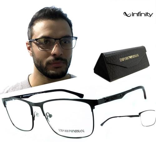 737730495386e Armação De Oculos Grau Masculino Ea1098 Lançamento Novo
