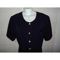 Blusa P/senhora Cor Azul Escuro Da Ilga Tamanho G Cx 1