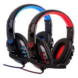 Headphone Gamer Alpha 1804 Bass Com Fio Corda E Microfone